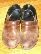 Old Brown Dansko Clogs