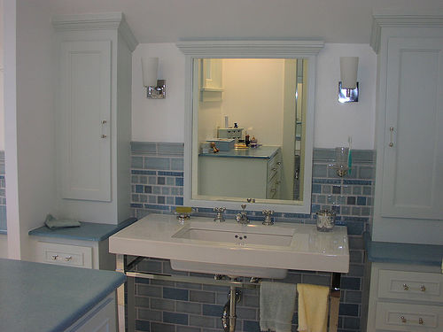 File:Bathroom sink and cabinets.jpg
