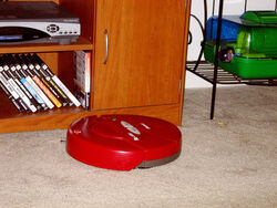 Roomba Cleaning the Living Room