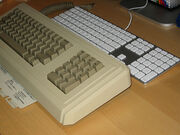 Apple Keyboard vs. Apple Lisa Keyboard (circa 1983)
