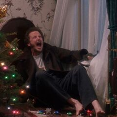 Marv steps on Christmas ornaments