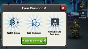 Earn Diamonds