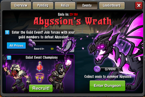 Abyssions Wrath window
