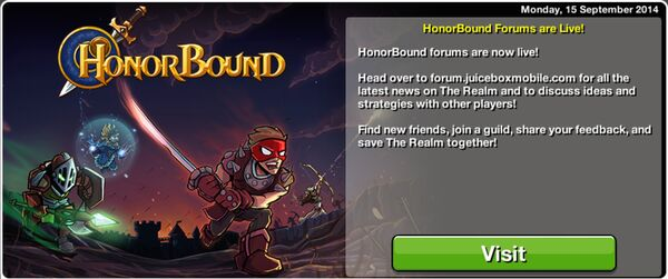 HonorBound Forums