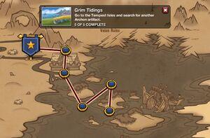 Grim Tidings - map