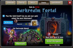 Event Darkrealm Portal 2 window