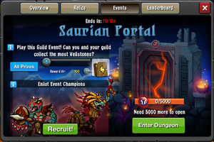 Event Saurian Portal window