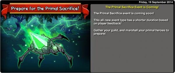 Prepare for the Primal Sacrifice
