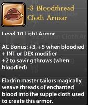 3 Bloodthread Cloth Armor