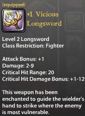 1 Vicious Longsword