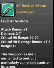 1 Seeker Hand Crossbow