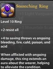 Staunching Ring