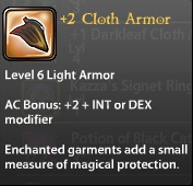 2 Cloth Armor