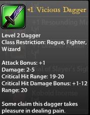 1 Vicious Dagger