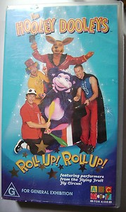 File:The Hooley Dooleys - Roll Up! Roll Up! VHS (front cover).jpg