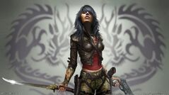 883365-blue-hair-fantasy-art-tattoos-video-games-wet-video-game-women