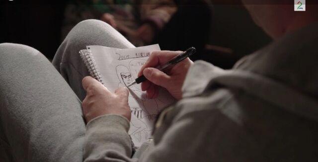 Fil:Pelle og jenny planlegger bursdagen til joey pelle tegner.jpg