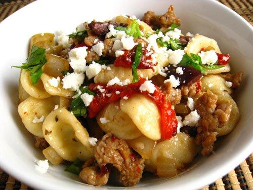 File:Pasta with italian sausage.jpg