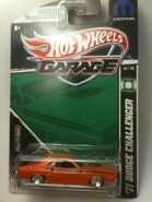 2011 Hot Wheels Garage MOPAR Hal Jordan 1971 Dodge Challenger Green Lantern FULL Card View