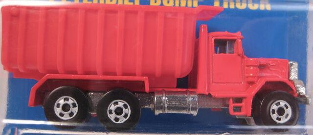 File:Peterbuilt dump truck red rare white BW version.JPG
