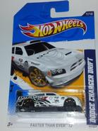 White Dodge Charger Drift