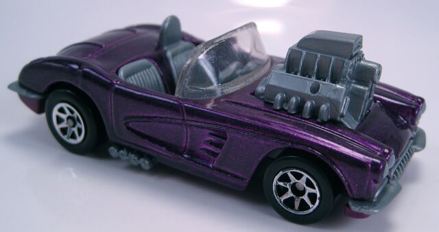 File:58 Corvette purple met GREY engine and interior 7sp.JPG