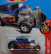 32 Ford BLUE W FLAMES