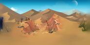 Die unendliche Wüste Hintergrund