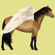 Deutsches Reitpony Altes Design Pegasus