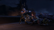 Dagur and hiccup fighting