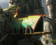 Front entrence of the Dragon hangar