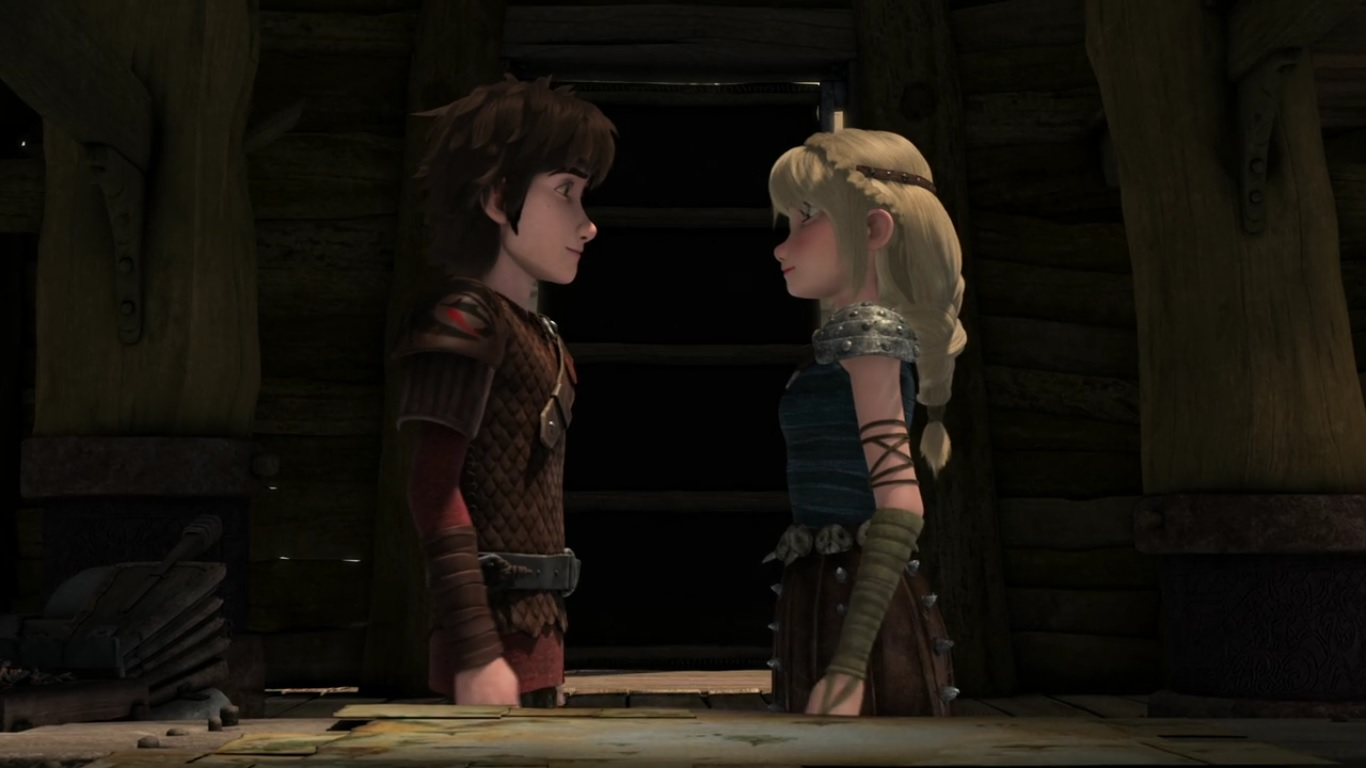 Hiccup And Astrid Gearing Up For A Kissg