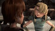 Hiccup seeing Astrid is angry