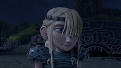 Astrid upon hearing Hiccup clear her family's name