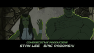 She-Hulk and Hulk are standing