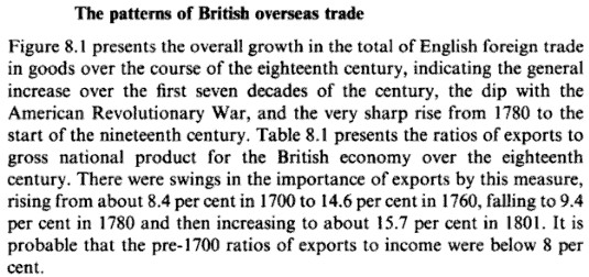 The Patterns of British Overseas Trades