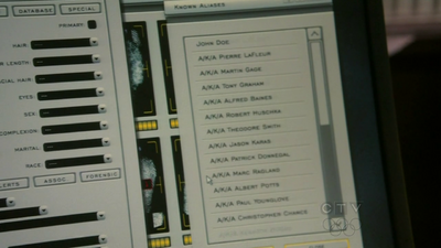 Wikia HT - FBI list of Chance's aliases