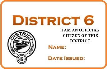 District 6 permit