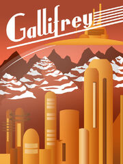 Art deco doctor who gallifrey poster by jeffswalsh-d64l5zf