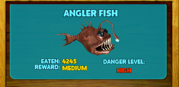 Anglerfish hungry shark wiki fandom powered by wikia for Where do angler fish live