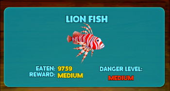 Lionfish hungry shark wiki fandom powered by wikia for Fish evolution game