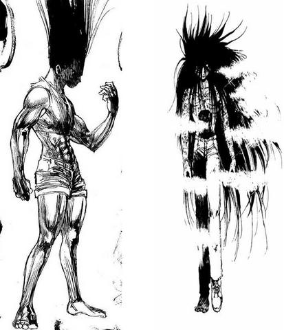ملف:Gon and Yusukue Transformation.png