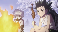 76 - Gon and Killua listen to Kite's story