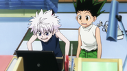 Gon and Killua chocked by the price of Greed Island