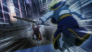 Pairo doll and Kurapika about to attack