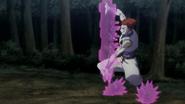 Hisoka stopping Gotoh's coins