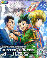 Gon, Killua, Kurapika and Leorio LR card