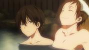 Oreki and Satoshi bathing