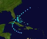 Tropical Storm Gabrielle (2019 - Track)