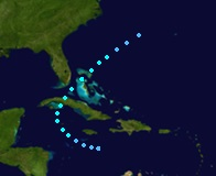Tropical Storm Gabrielle (2019 - Track)